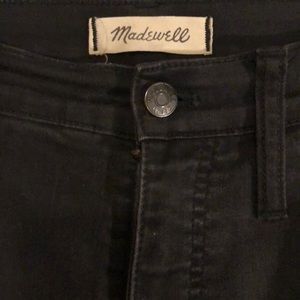 "Madewell 10"" High-Rise Skinny Jeans. Black. Sz. 31"